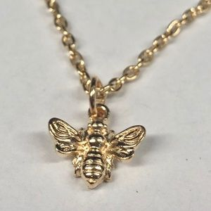"""Bumble Bee 🐝 Gold Tone Necklace 18"""" New 💝"""